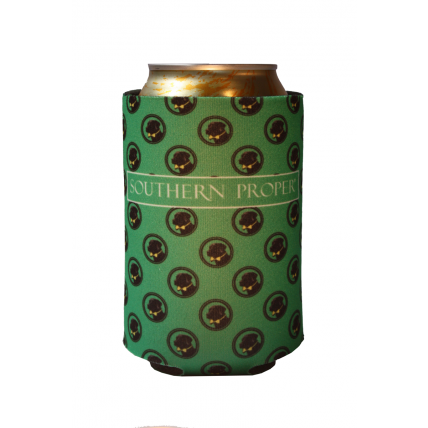Green Logo Coozie